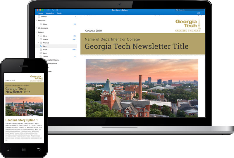 Georgia Tech email newsletter