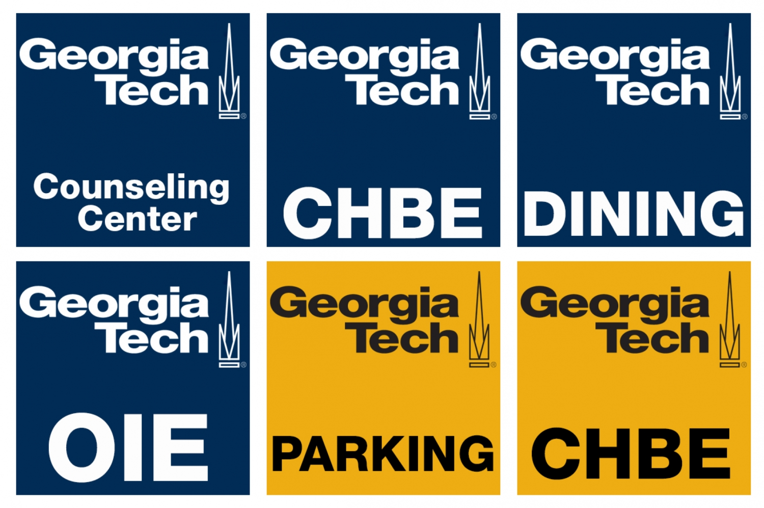 Examples of Georgia Tech social media icons